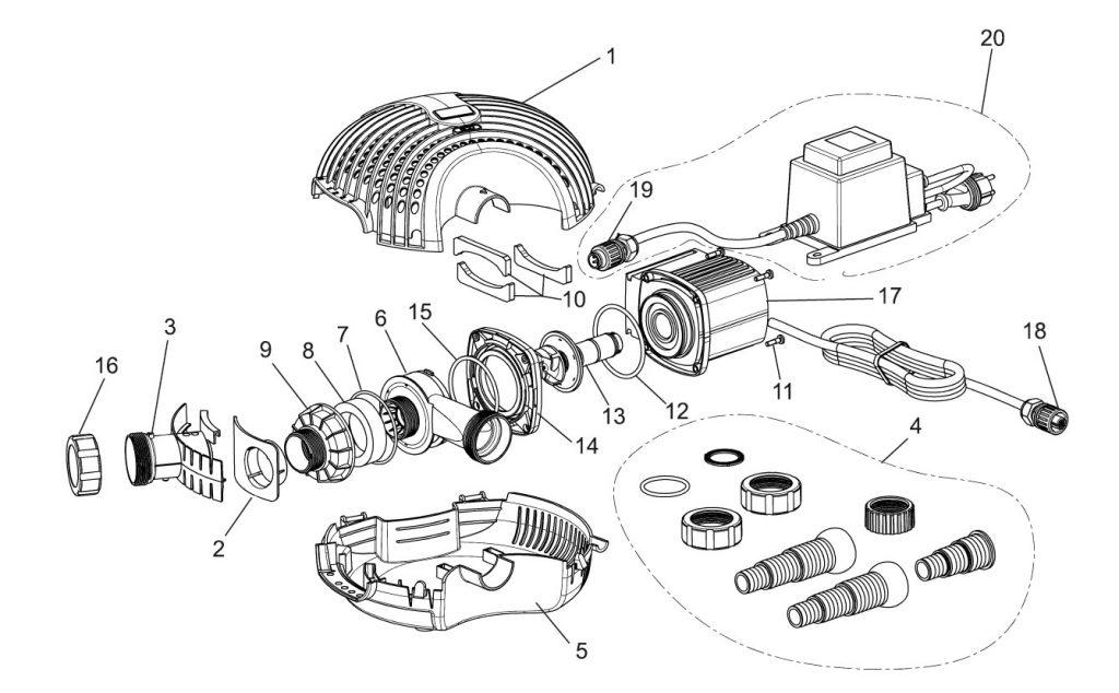 AquaMax Eco 6000-12V Parts Diagram